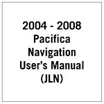 81 170 04025 2004 2008 pacifica (cs) navigation user's manual (jln) mopar Chrysler 300 Wiring Schematics at mifinder.co
